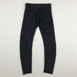 Lululemon Charcoal Heathers Gray Mid Rise Leggings